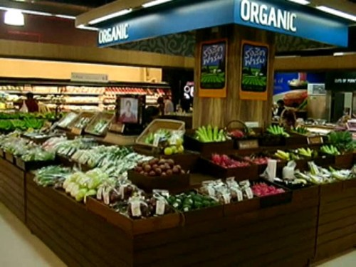 The First Organic Oasis in Special Supermarket in THAILAND by RANGSIT FARM